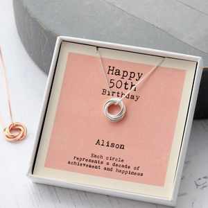 Sterling Silver 50th Birthday Necklace
