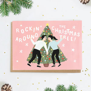 'Rockin' Around The Christmas Tree!' Christmas Card - cards & wrap