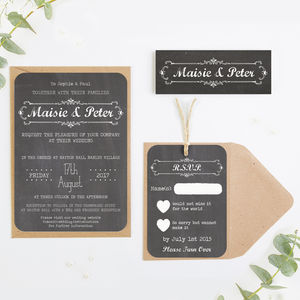 Chalkboard Wedding Invitations - invitations