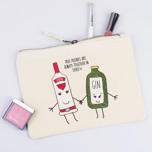 'Together In Spirits' Friendship Make Up Bag - accessories gifts for friends