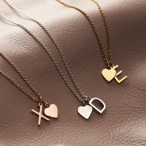 Personalised Letter And Heart Necklace - our top new picks