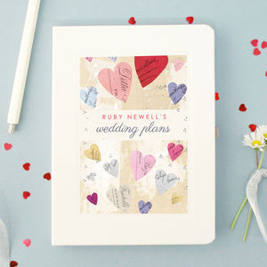 Personalised Wedding Engagement Notebook - planners & records