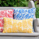 Queen Anne's Lace Block Printed Cotton Cushions