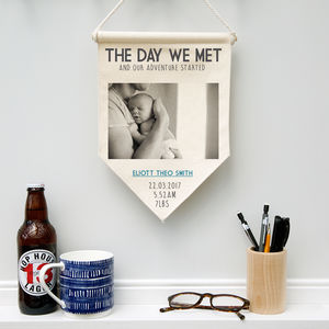 Personalised 'New Father' Pennant