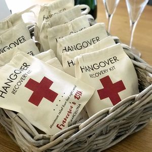Personalised Hangover Recovery Kit Bag