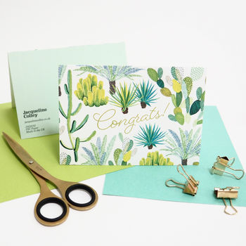 Cacti Congrats Greeting Card