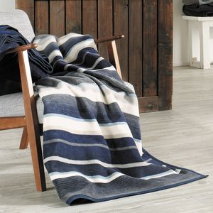 Santorini Blue And Cream Stripe Throw - blankets & throws