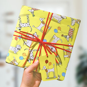 Dog Wrapping Paper And Gift Tags