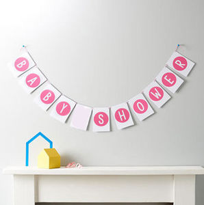 Baby Shower Bunting - baby shower decorations
