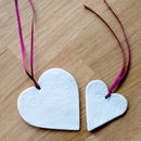 Porcelain Ceramic Heart Decoration