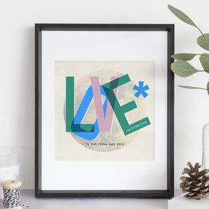 Personalised Love Print Gift - posters & prints