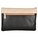 Black/ Marfil Leather Clutch