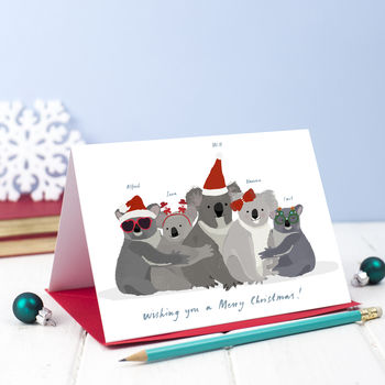 Personalised Christmas Koala Card