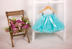 Turquoise Pettiskirt - fancy dress