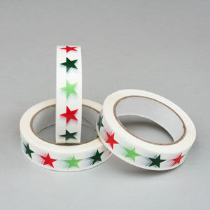 Christmas Star Sticky Tape - cards & wrap