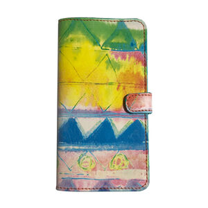 Blue Zig Zag Leather Smartphone Case