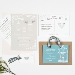Vintage Birdcage Wedding Invitation - invitations