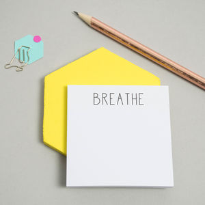 'Breathe' Sticky Notes