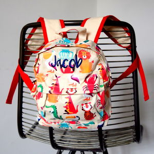 Personalised Wild Animal Kids Backpack