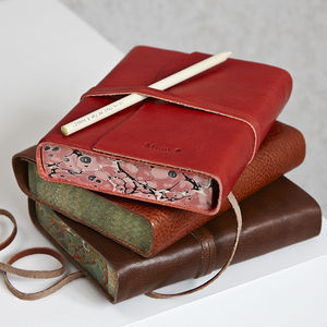 Personalised Leather Journal - travel journals & diaries