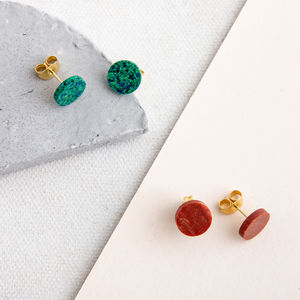 Dot Round Glass Studs