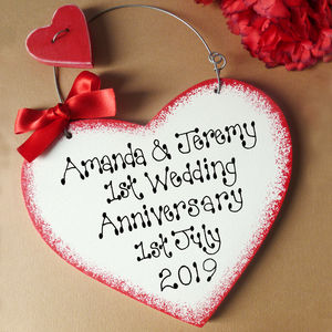 Personalised 1st Anniversary Sign