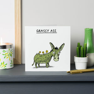 Grassy Ass Thank You Card - thank you cards