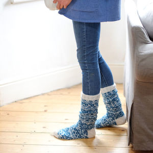 Hand Knitted Mohair Socks