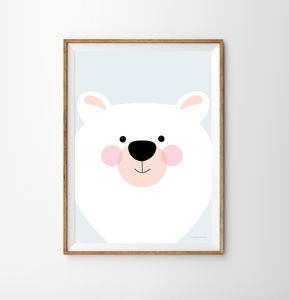 Polar Bear Children's Print - animals & wildlife