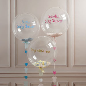 Personalised Baby Shower Confetti Balloon