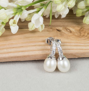 Crystal And Pearl Drop Earrings - earrings