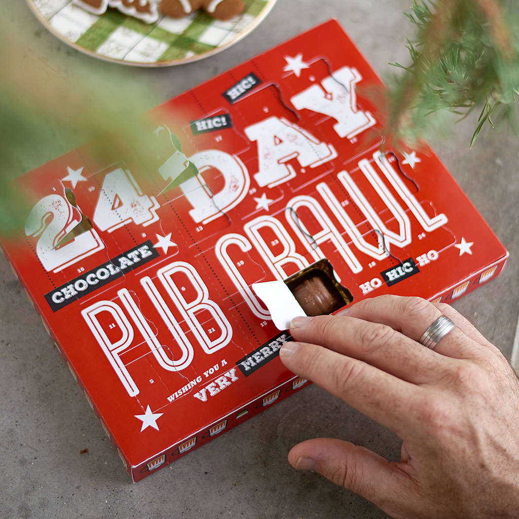 Pub Crawl Craft Beer Chocolates Advent Calendar By Quirky