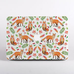 Foxes Print Hard Case For All Mac Book Models