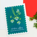A Set Of Personalised Christmas Cards With Mistletoe