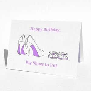 Personalisable Shoes Birthday Card