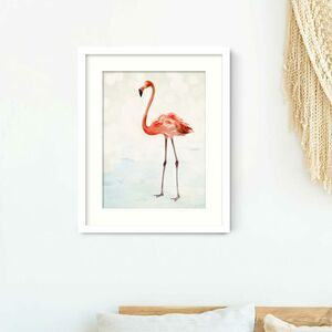 Let's Flamingo Print
