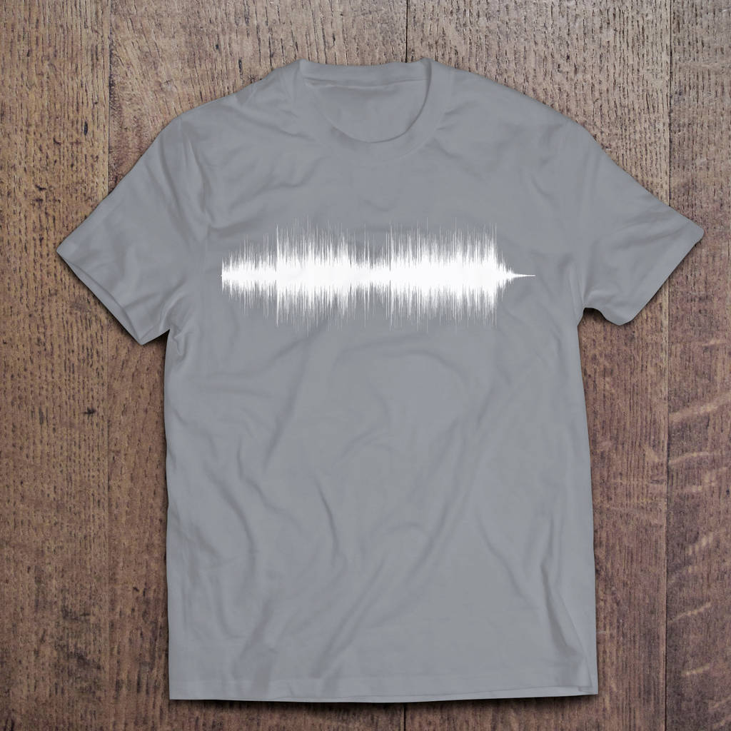 d2e550f8 men's personalised sound wave t shirts by mixpixie ...