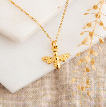 Delicate Gold Bee Necklace