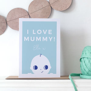 Personalised Mummy's First Mother's Day Card With Baby