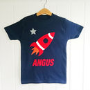 Personalised Space Rocket T Shirt
