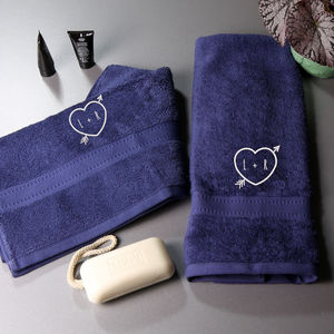 Heart Embroidered Hand Towels
