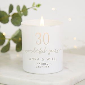 Anniversary Gift For Couple Personalised Candle - candles & home fragrance