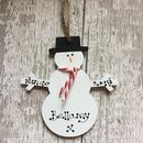 Personalised Christmas Snowman Decoration