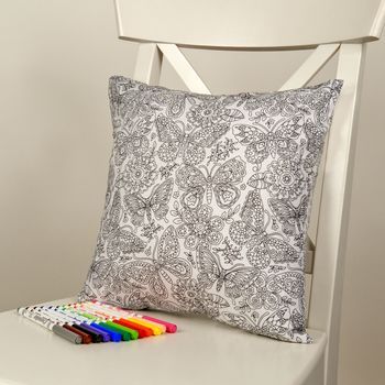 Butterfly Colour Me In Cushion