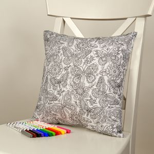 Butterfly Colour Me In Cushion - cushions