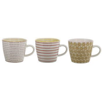 Patterned Mug Set