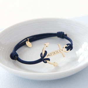 Personalised Anchor Bracelet - gifts for him