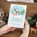 Personalised Snow Globe Baby's First Christmas Card