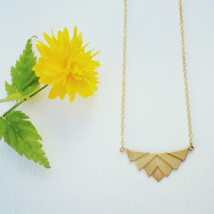 Theda Geometric Necklace - geometric shapes