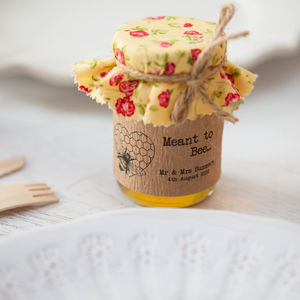 18 'Meant To Bee' Honey Favour Stickers - wedding favours